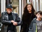 PHOTO: Michael Douglas and wife Catherine Zeta-Jones are seen out together for the first time since they announced their separation over the summer, Dec. 22, 2013.