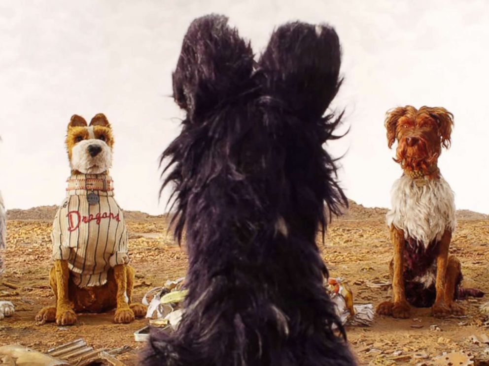 PHOTO: Jeff Goldblum, Bill Murray, Bob Balaban, Edward Norton, and Bryan Cranstons characters appear in Isle of Dogs.