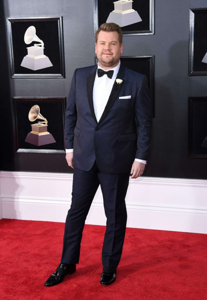PHOTO: James Corden arrives for the 60th Grammy Awards, Jan. 28, 2018, in New York.