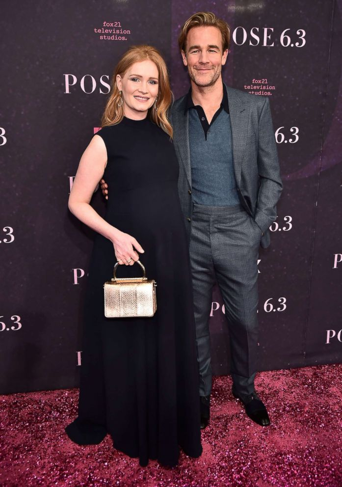 PHOTO: Kimberly Brook and James Van Der Beek attend the Pose New York Premiere at Hammerstein Ballroom, May 17, 2018, in New York City.