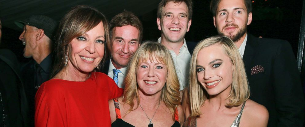"PHOTO: Allison Janney, Steven Rogers, Tonya Harding, Bryan Unkeless, Margot Robbie and Ricky Russert attend the after party for the premiere of Neon and 30 Wests ""I, Tonya,"" Dec. 5, 2017, in Hollywood, Calif."