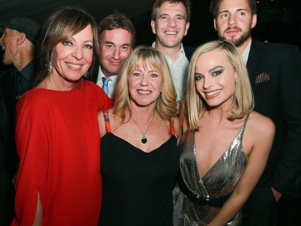 PHOTO: Allison Janney, Steven Rogers, Tonya Harding, Bryan Unkeless, Margot Robbie and Ricky Russert attend the after party for the premiere of Neon and 30 Wests I, Tonya, Dec. 5, 2017, in Hollywood, Calif.