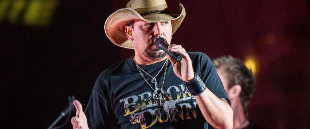 PHOTO: Jason Aldean performs during a surprise pop up concert at the Music City Center in Nashville, Tenn., June 7, 2017.
