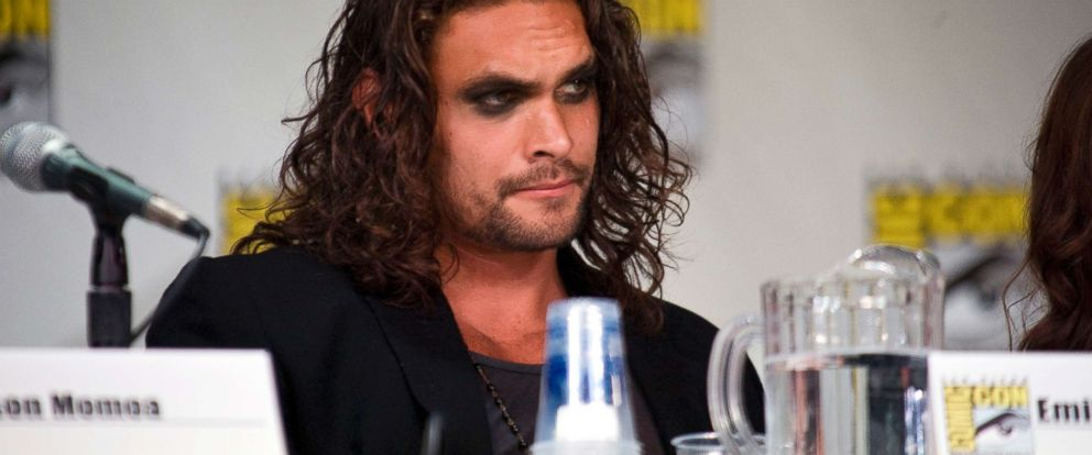 """PHOTO: Jason Momoa of """"Game of Thrones"""" speaks during day one of Comic-Con 2011 held on July 21, 2011, in San Diego."""