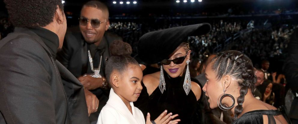 PHOTO: Blue Ivy, Beyonce Knowles and Alicia Keys attend the 60th annual Grammy Awards at Madison Square Garden, Jan. 28, 2018, in New York City.