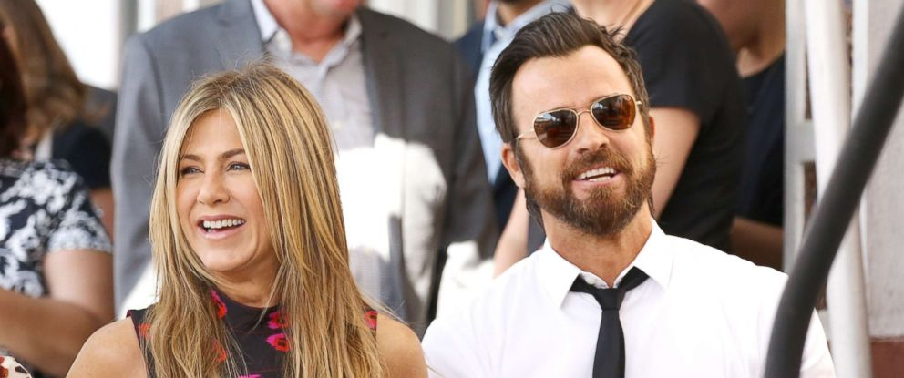PHOTO: Jennifer Aniston and Justin Theroux attend the ceremony honoring Jason Bateman with a Star on The Hollywood Walk of Fame held, July 26, 2017, in Hollywood, Calif.