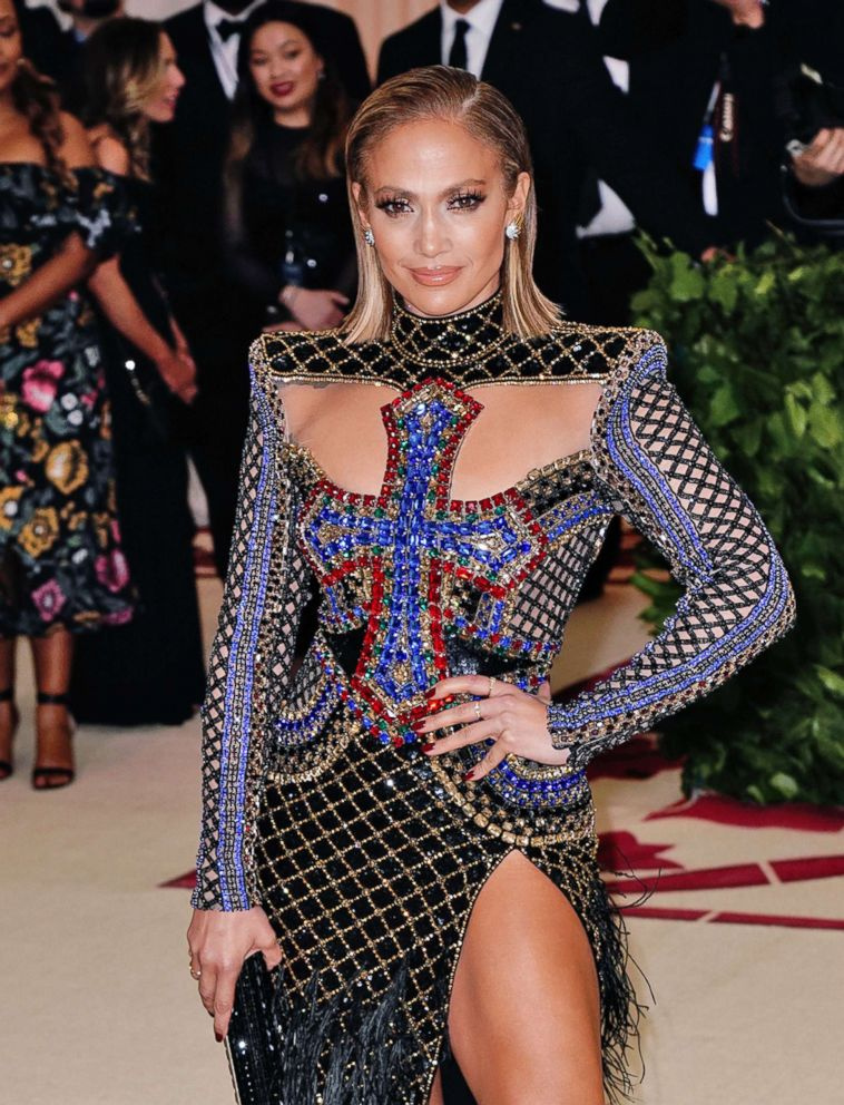 PHOTO: Jennifer Lopez and Alex Rodriguez attends the Heavenly Bodies: Fashion & The Catholic Imagination Costume Institute Gala at Metropolitan Museum of Art, May 7, 2018, in New York City.