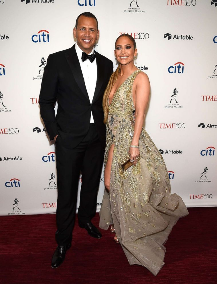 PHOTO: Alex Rodriguez and Jennifer Lopez attend the 2018 Time 100 Gala at Jazz at Lincoln Center on April 24, 2018, in New York City.