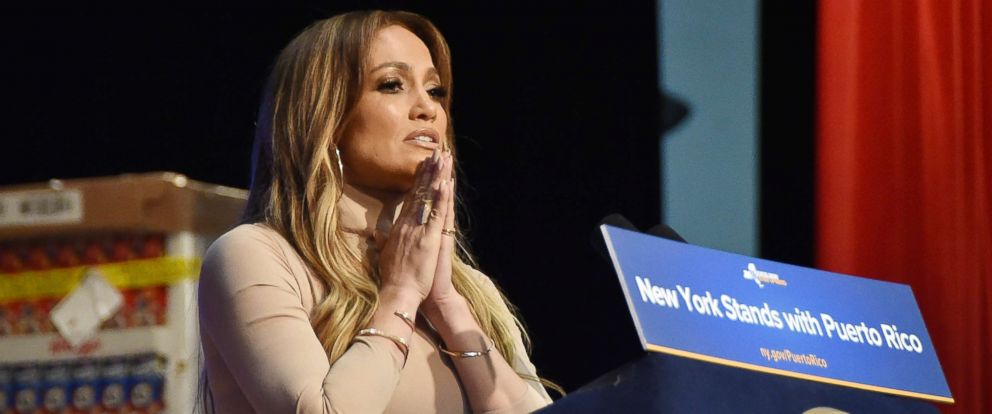 PHOTO: Jennifer Lopez at a benefit to help victims of Hurricane Maria in Puerto Rico at the Javits Center in New York.