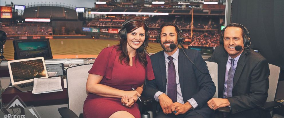 PHOTO: Jenny Cavnar became among the first women ever to call play-by-play for a major league baseball broadcast during the Rockies game, April 23, 2018.