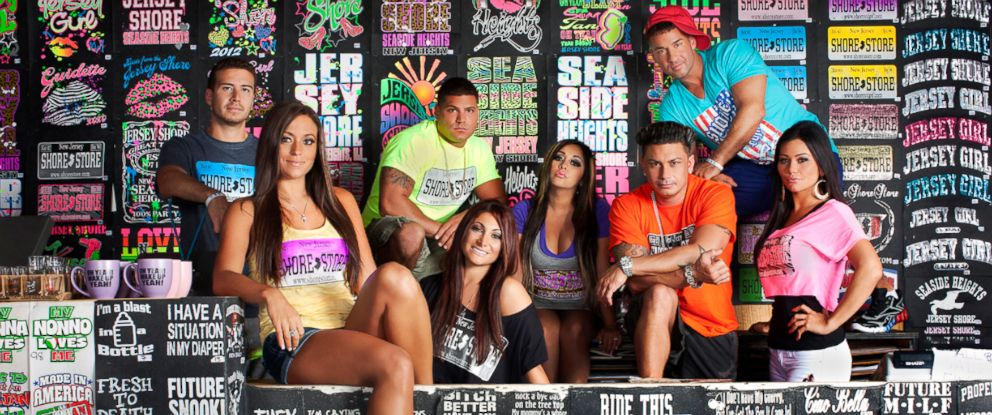 "PHOTO: Cast of MTVs ""The Jersey Shore."""