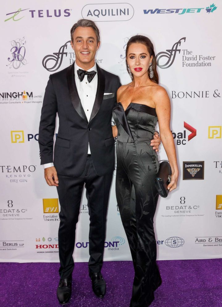 PHOTO: Ben Mulroney and Jessica Mulroney arrive for the David Foster Foundation Gala at Rogers Arena on Oct. 21, 2017 in Vancouver, Canada.