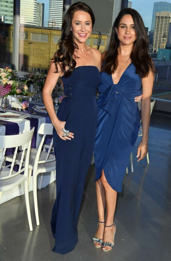 PHOTO: Jessica Mulroney and actress Meghan Markle attends the Instagram Dinner held at the MARS Discovery District, May 31, 2016, in Toronto.