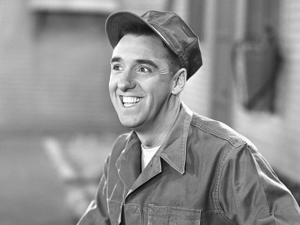 PHOTO: Actor Jim Nabors grins in a scene from an episode of the television comedy series Gomer Pyle, USMC called Dance, Marine, Dance, Sept. 30, 1964.