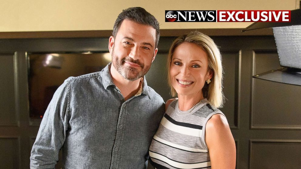 Comedian Jimmy Kimmel opens up about his new shows in Brooklyn in an interview with ABC News' Amy Robach, Oct. 13, 2017.