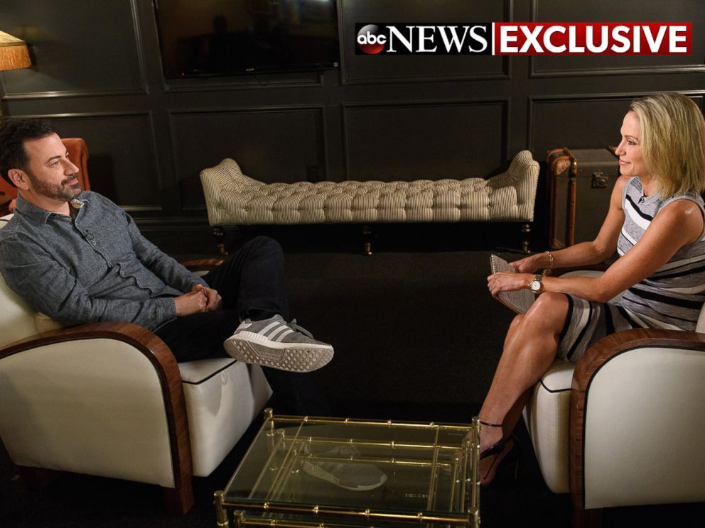 PHOTO: Comedian Jimmy Kimmel opens up about his new shows in Brooklyn in an interview with ABC News Amy Robach, Oct. 13, 2017.
