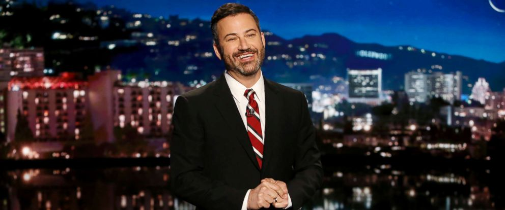 "PHOTO: Jimmy Kimmel addresses the audience on ""Jimmy KImmel Live,"" Sept. 21, 2017."