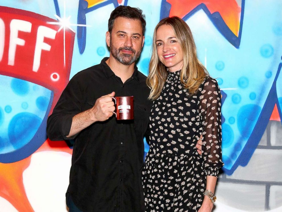 PHOTO: Jimmy Kimmel and wife Molly McNearney attend the Jimmy Kimmel Live! Welcome to Brooklyn kick-off, Oct. 14, 2017, in New York City.