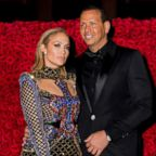 Jennifer Lopez and Alex Rodriguez attend the Heavenly Bodies: Fashion & The Catholic Imagination Costume Institute Gala at The Metropolitan Museum of Art, May 7, 2018, in New York City.