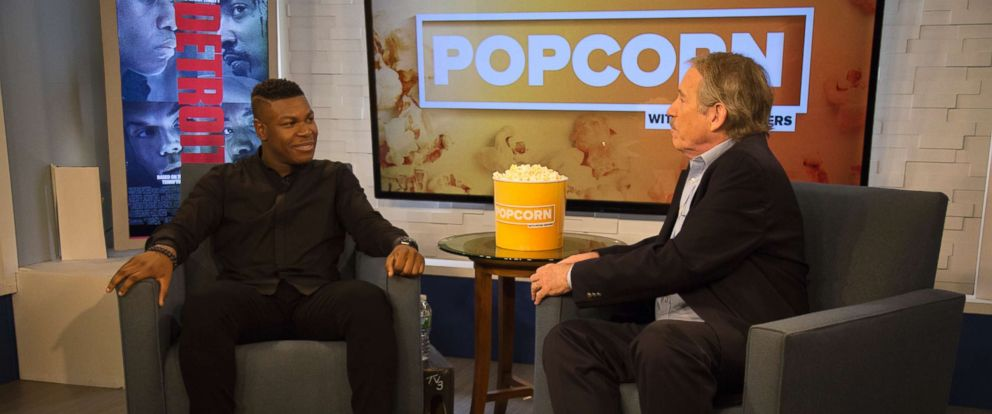 """PHOTO: John Boyega appears on """"Popcorn with Peter Travers"""" at ABC News studios, Aug. 1, 2017, in New York City."""