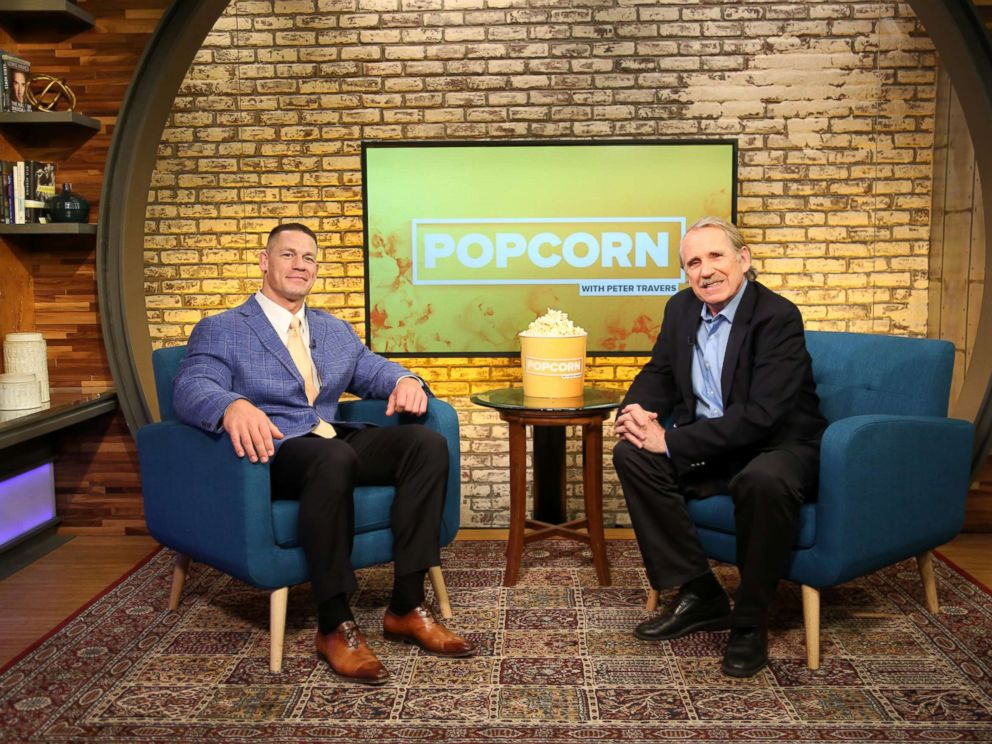 PHOTO: John Cena appears on Popcorn with Peter Travers at ABC News Studios in New York City, March 29, 2018.