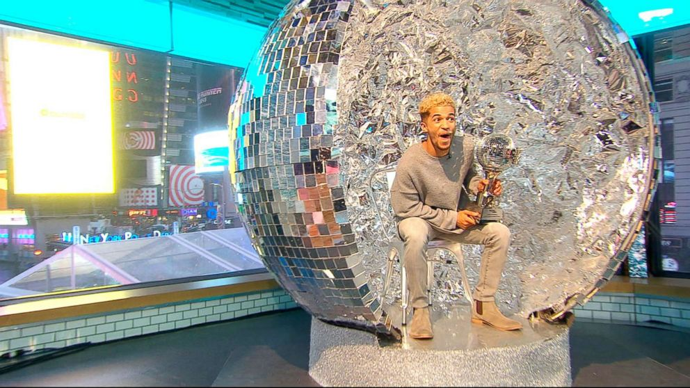 """""""Dancing With the Stars"""" season 25 winner Jordan Fisher can't wait to use his Mirror Ball Trophy as the Thanksgiving table centerpiece."""