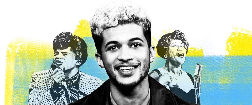PHOTO: Jordan Fisher pays tribute to black trailblazers in honor of Black History Month.