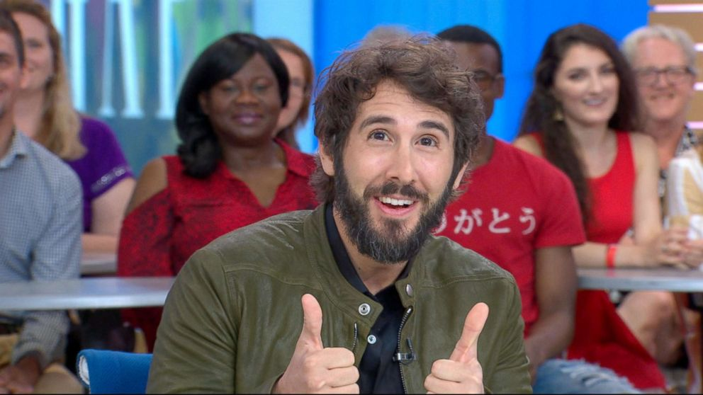 "Josh Groban appears on ""Good Morning America,"" July 2, 2018."