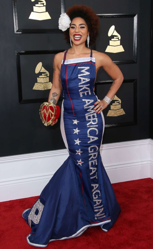 PHOTO: Singer Joy Villa arrives at the 59th Grammy awards in this Feb. 12, 2017 file photo in Los Angeles.