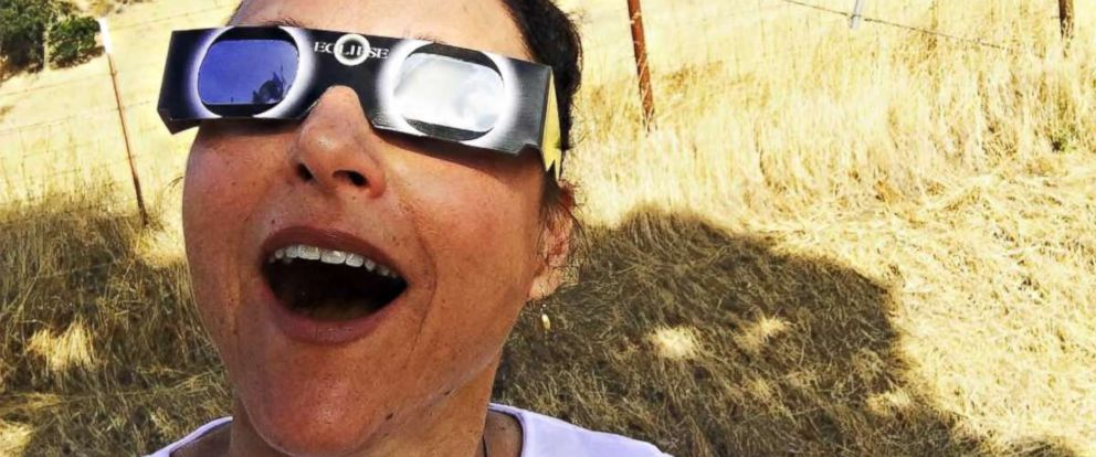 PHOTO: Julia Louis Dreyfus watched the total solar eclipse, Aug. 21, 2017, in this image she posted to her Instagram account.