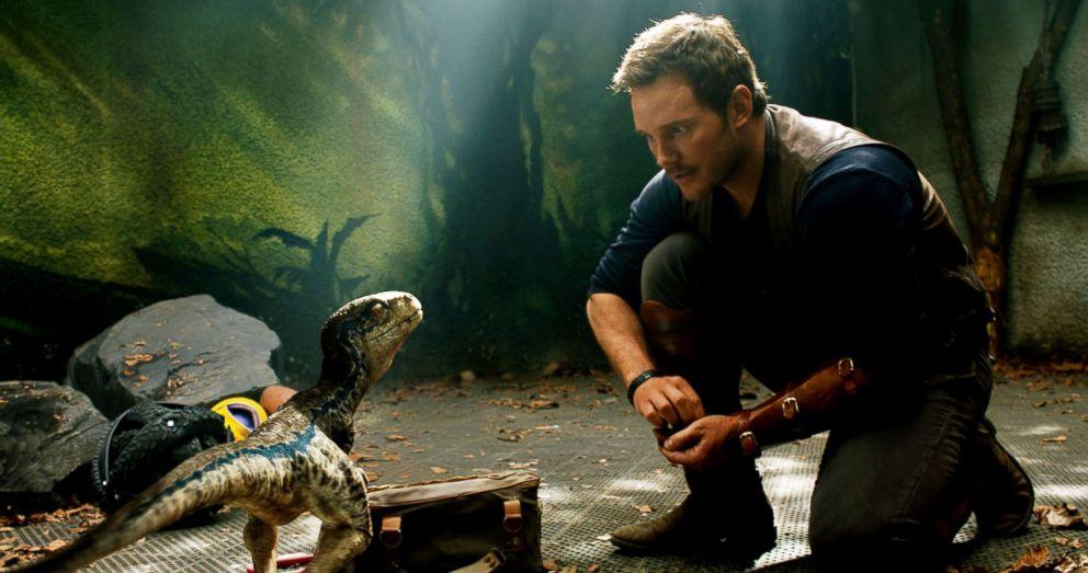 "Chris Pratt in a scene from ""Jurassic World: Fallen Kingdom."""