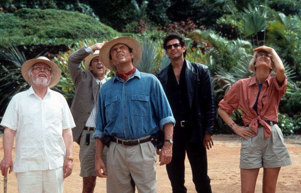 PHOTO: From left, Richard Attenborough, Martin Ferrero, Sam Neill, Jeff Goldblum and Laura Dern in a scene from the film Jurassic Park, 1993.
