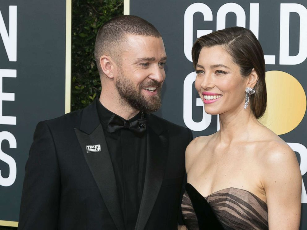 PHOTO: Justin Timberlake and Jessica Biel attend the 75th Golden Globe Awards 2018 at Hotel Beverly Hilton in Beverly Hills, Calif. Jan. 7, 2018.