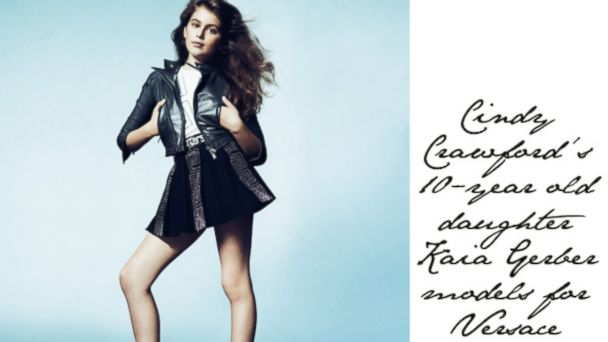 PHOTO: Kaia Gerber, daughter of Cindy Crawford, is seen in this ad for Young Versace.
