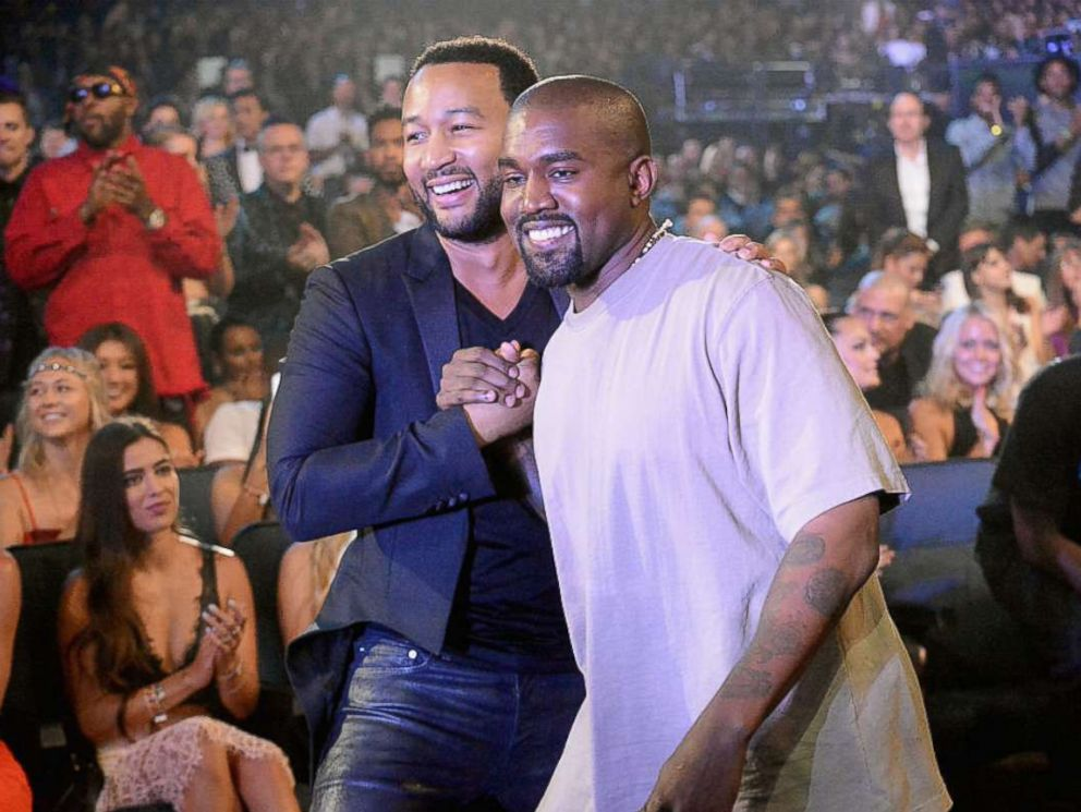PHOTO: John Legend and Kanye West attend the 2015 MTV Video Music Awards at Microsoft Theater on August 30, 2015 in Los Angeles.