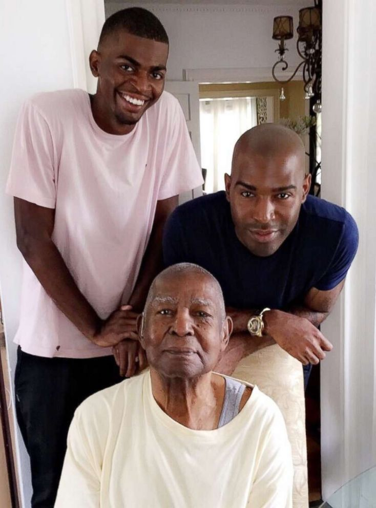 PHOTO: Karamo, his grandfather and Karamos son pose together in a photo. Im just happy that weve had these generational experiences.