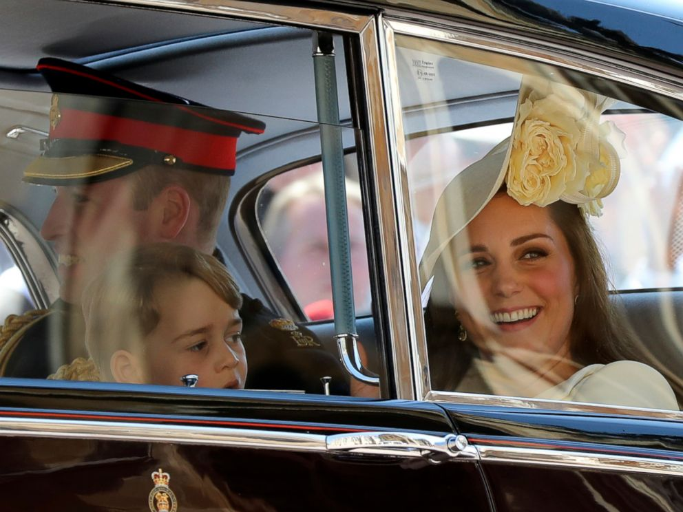 PHOTO: Britains Prince William, Kate Duchess of Cambridge and Prince George leave after the wedding ceremony of Prince Harry and Meghan Markle at St. Georges Chapel in Windsor Castle in Windsor, May 19, 2018.
