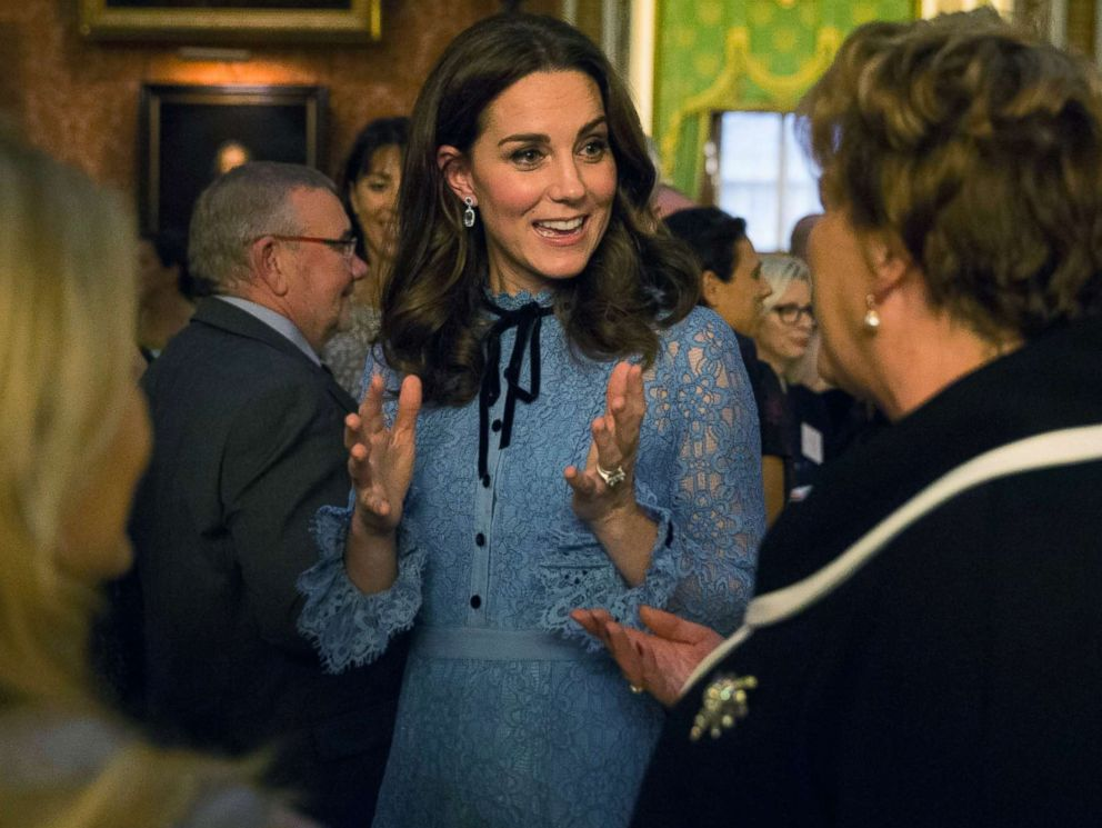 PHOTO: Britains Kate, the Duchess of Cambridge attend a reception at Buckingham Palace, London, to celebrate World Mental Health Day, Oct. 10, 2017.