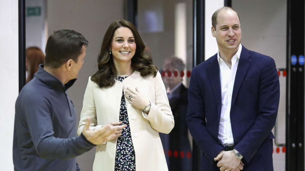 Catherine, Duchess of Cambridge and Prince William, Duke of Cambridge meet wheelchair basketball players, March 22, 2018, in London.