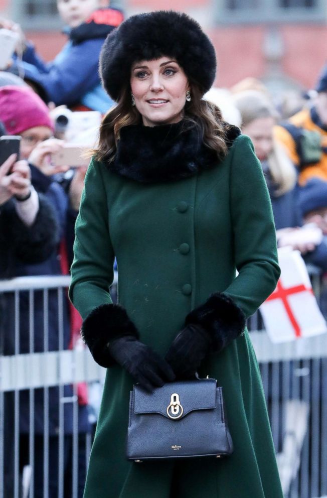 PHOTO: Duchess of Cambridge Kate Middleton in Stockholm, Sweden, Jan. 30, 2018.