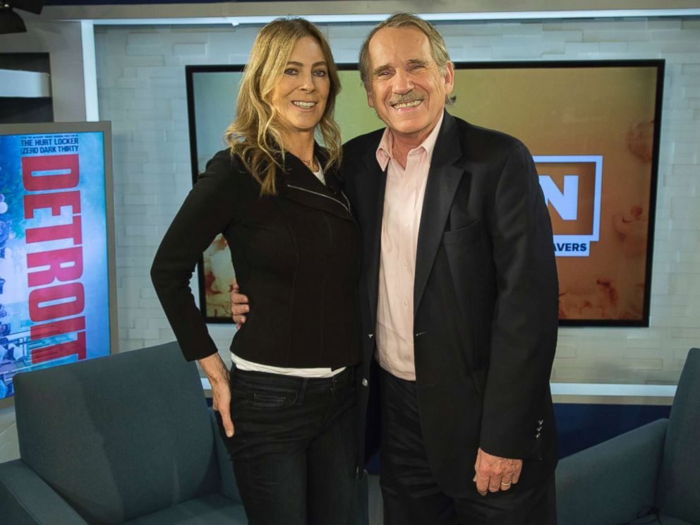 PHOTO: Peter Travers and Kathryn Bigelow at the ABC News studios in New York City, August 2, 2017.