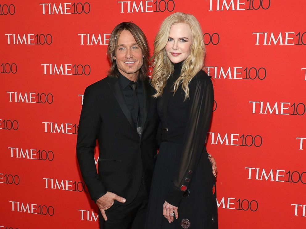 PHOTO: Keith Urban and Nicole Kidman attend the 2018 Time 100 Gala at Frederick P. Rose Hall, Jazz at Lincoln Center, April 24, 2018, in New York City.