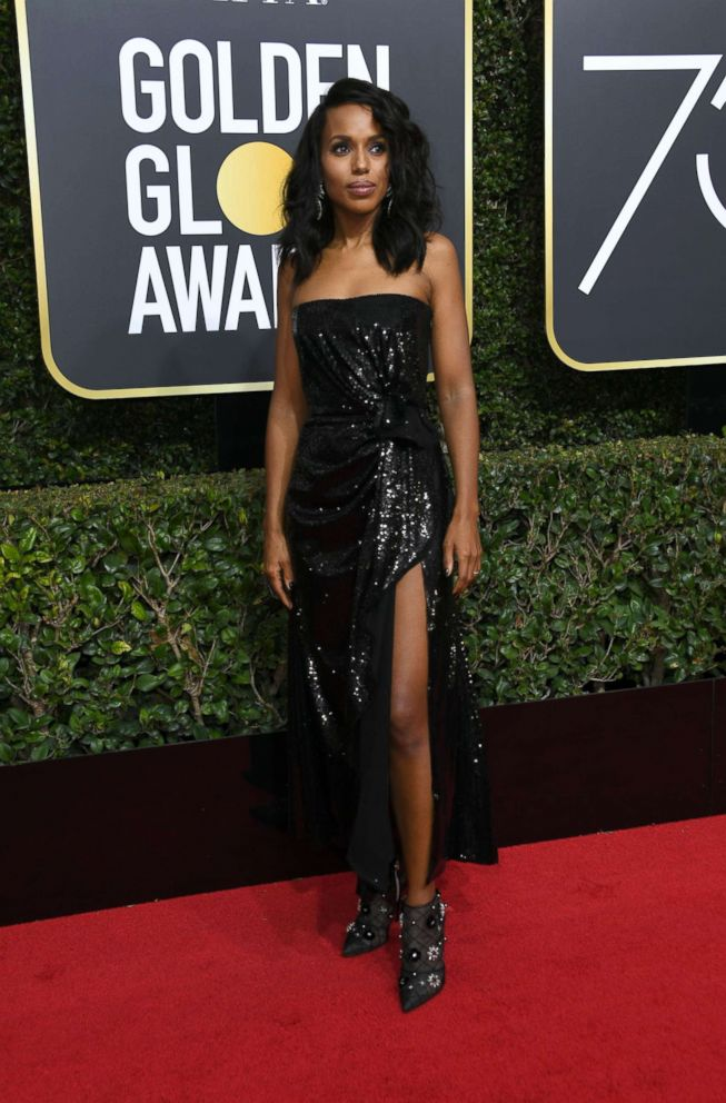PHOTO: Kerry Washington arrives for the 75th Golden Globe Awards, Jan. 7, 2018, in Beverly Hills, Calif.