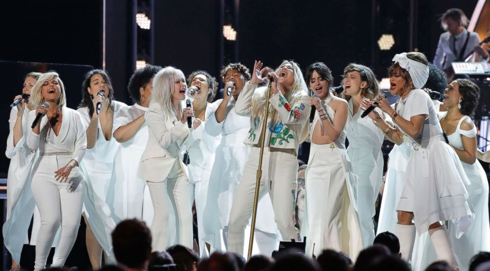 PHOTO: Kesha performs Praying at the 60th annual Grammy Awards at Madison Square Garden, Jan. 28, 2018, in New York.