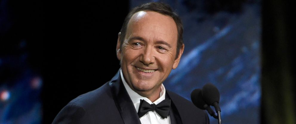 PHOTO: Kevin Spacey presents the award for excellence in television at the BAFTA Los Angeles Britannia Awards in Beverly Hills, Calif., Oct. 27, 2017.