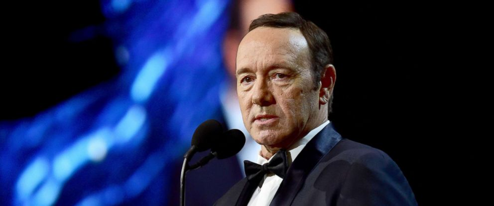 PHOTO: Kevin Spacey speaks at the 2017 AMD British Academy Britannia Awards, Oct. 27, 2017 in Beverly Hills, Calif.