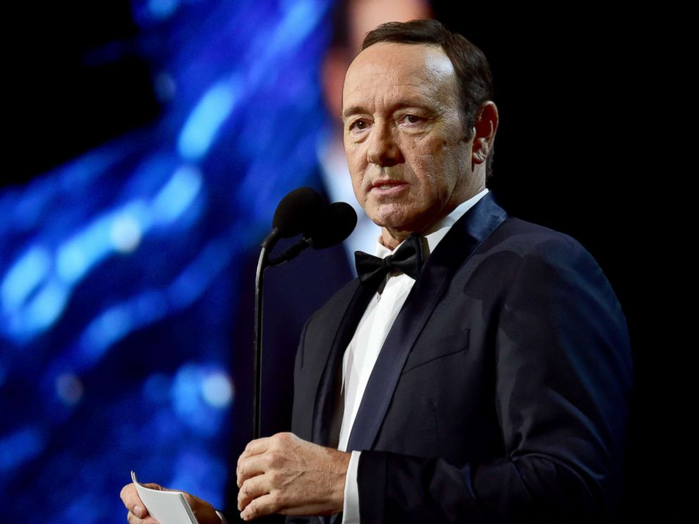 PHOTO: Kevin Spacey speaks onstage at the 2017 AMD British Academy Britannia Awards at The Beverly Hilton Hotel on Oct. 27, 2017 in Beverly Hills, Calif.