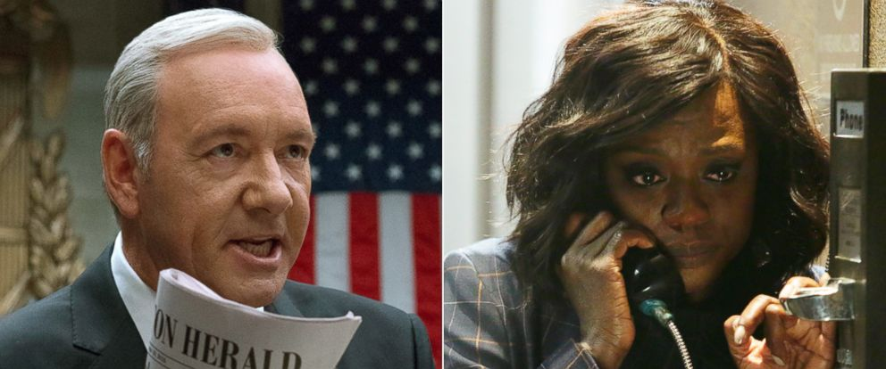 PHOTO: Kevin Space and Viola Davis in their Emmy-nominated roles.