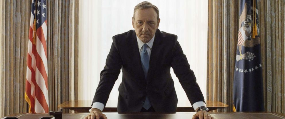 "PHOTO: Kevin Spacey in a scene from Netflix ""House Of Cards,"" 2013."