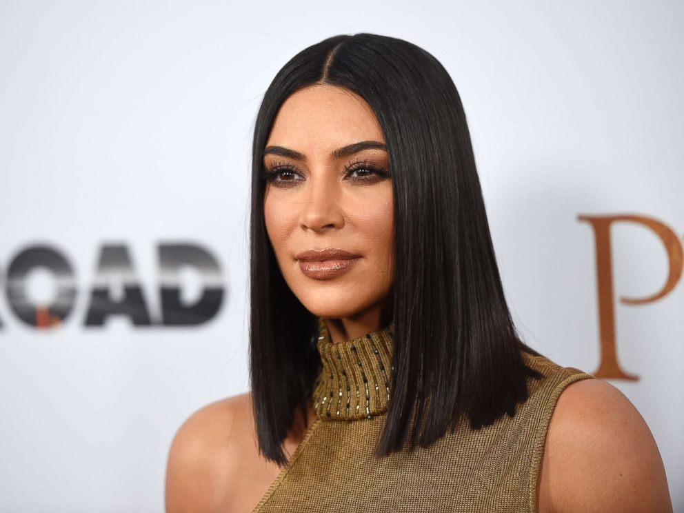 PHOTO: Kim Kardashian West arrives for a movie premiere in Los Angeles on April 12, 2017.